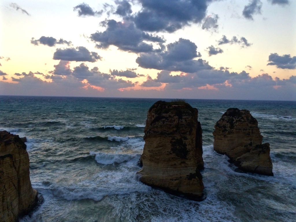Sakhret al-Raouche, off the Western coast of Beirut.